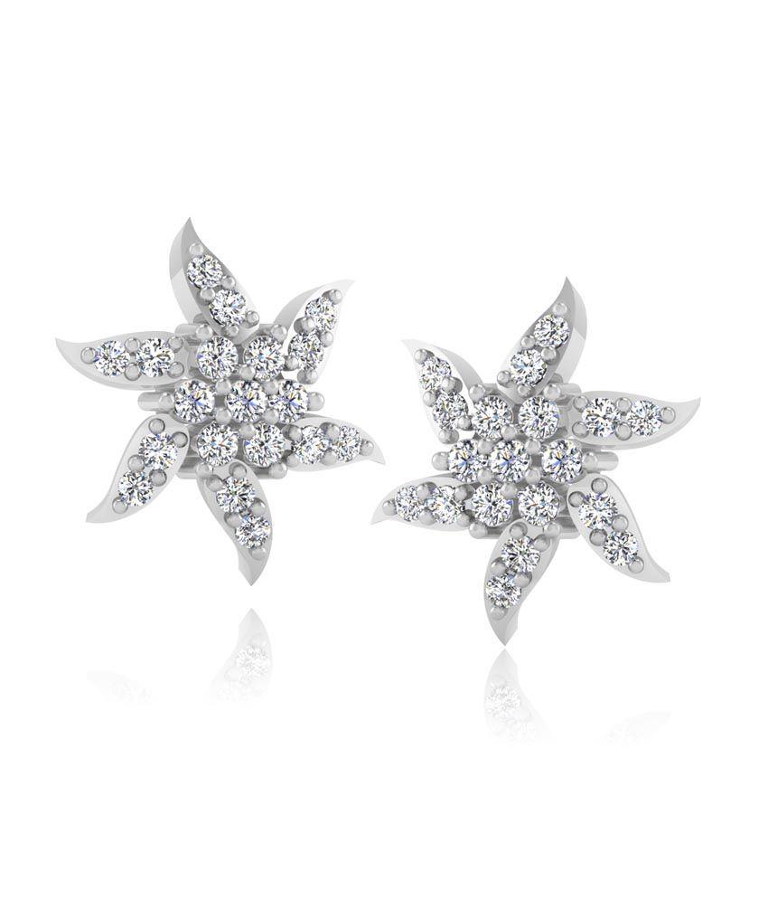 Forever Carat Real Diamond Radiant Earrings in 100% Certified 14kt Gold