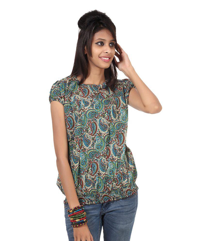 Rajrang Multi Printed Cotton Half Short Kurtis