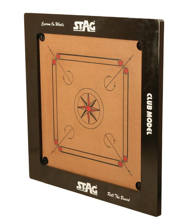 Stag Championship Model Carrom Board With Coins