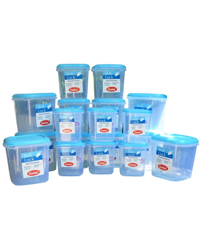 Chetan Plastic Kitchen Storage Containers Airtight 18 Pc Set