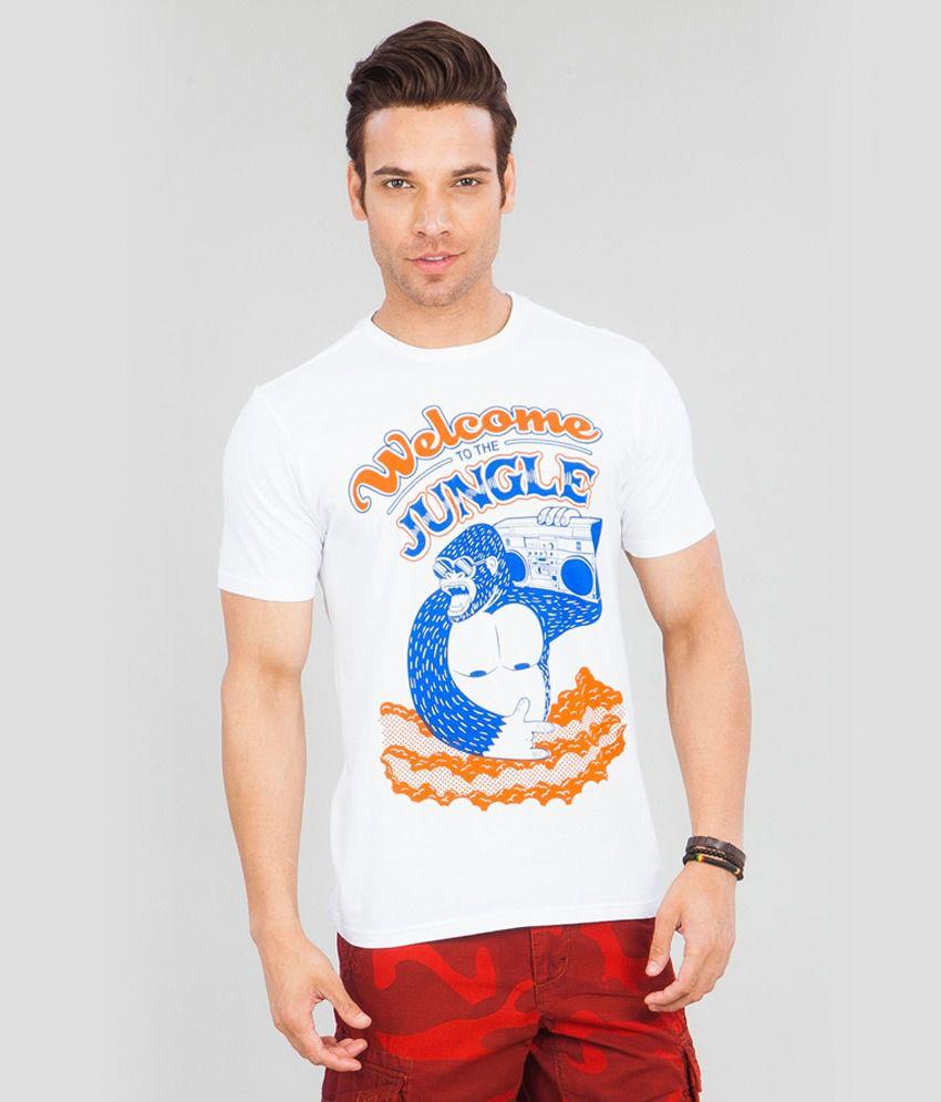 Cottonworld Men'S White T-Shirt