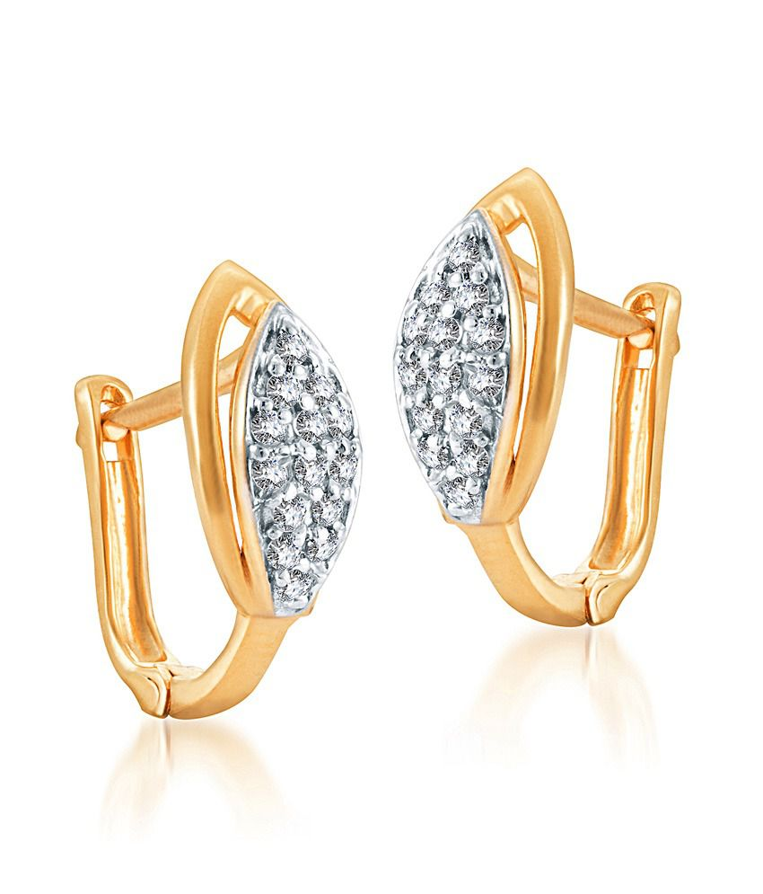 KaratCraft Perfection Earring -22kt Real Gold Bis Hallmark Jewellery