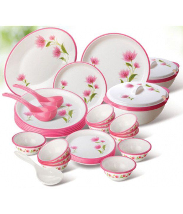round dinner set 32 pcs buy online at best price in india snapdeal