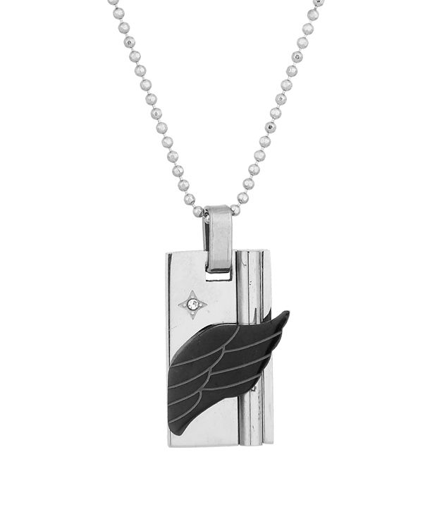Voylla Pendant With Chain Featuring Wing Inspired Design; Cz