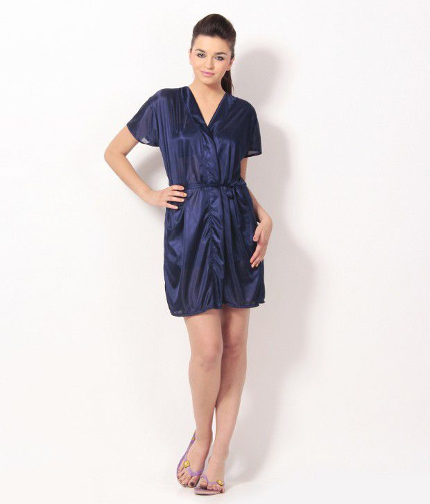 Buy Klamotten Blue Satin Robe Online at Best Prices in India - Snapdeal 28a12c9e8