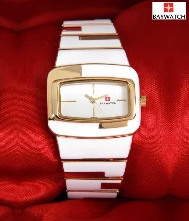 BayWatch White Arch Gold Watch