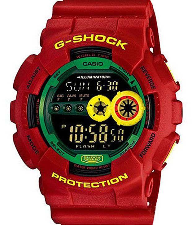 Casio G389 Big Face Red G-Shock Watch