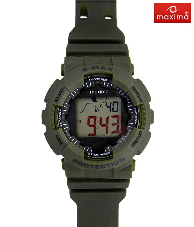 Maxima Multi Function Green Watch