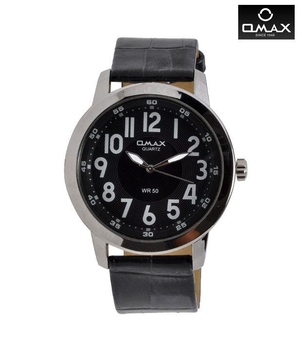 Omax Quartz Black Watch