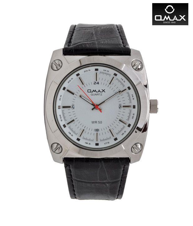 Omax Tonneau Bezel White Watch