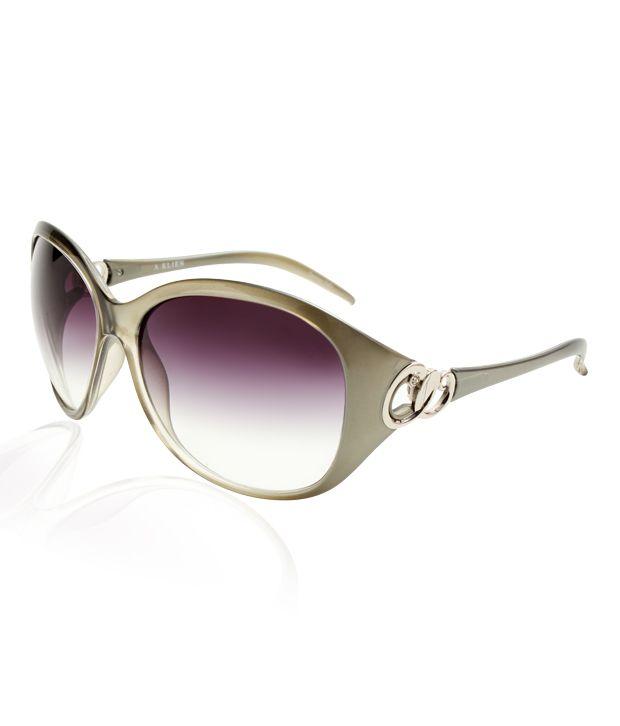 A.Klein Green Frame Sunglasses