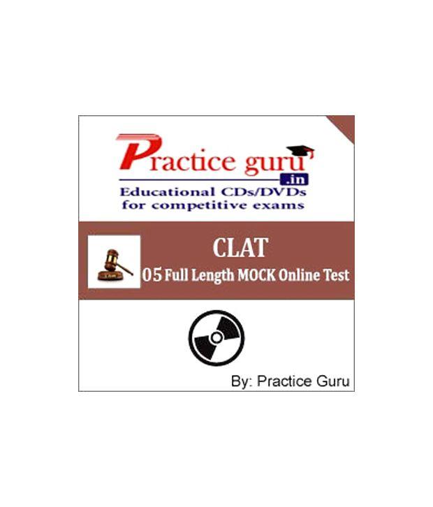 CLAT (Practice Guru 5 Full Length MOCK Online Test on Latest Pattern & Syllabus for CLAT)