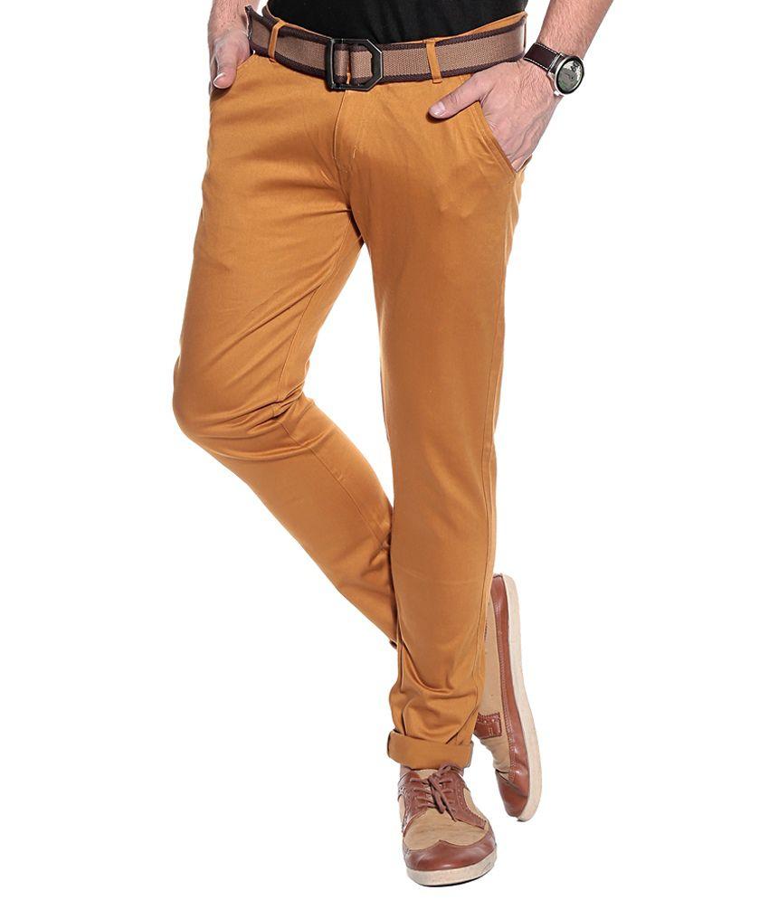 Coaster Orange Slim Semi Formals Chinos