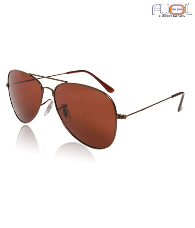 Fueel Opulent Brown Aviator Sunglasses