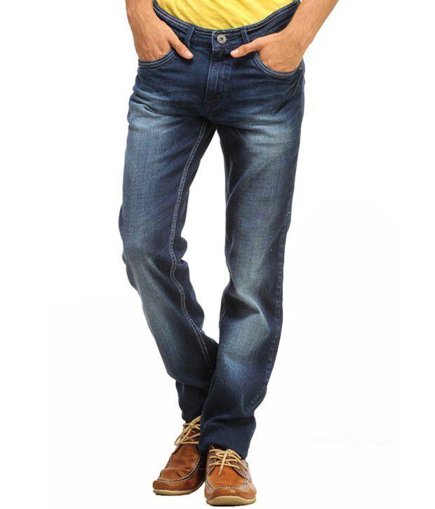 Gesture Blue Regular  Fit Jeans