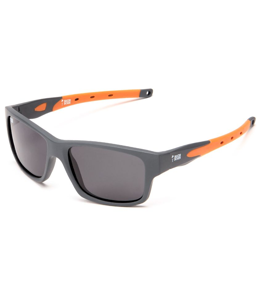 Highborn H-1814-C3 Men'S Wrap Around Sunglasses