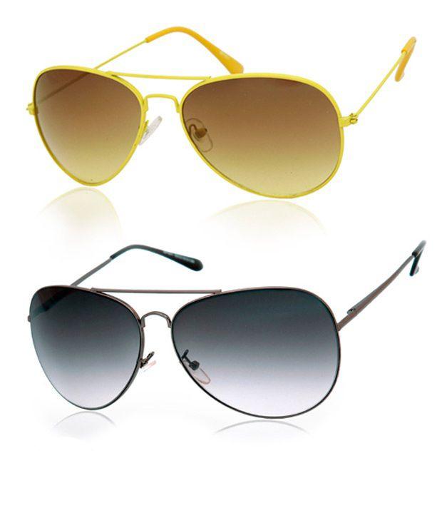 Joe Black Awesome Grey Aviator Buy 1 Get 1 Yellow Aviator Free