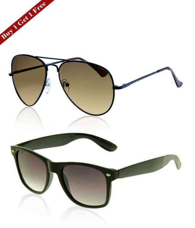 487a88b99e Just Colours Brown Sunglasses - Buy 1 Get 1 Free - Buy Just Colours Brown  Sunglasses - Buy 1 Get 1 Free Online at Low Price - Snapdeal
