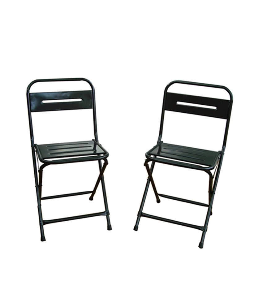 Fine Montreal Set Of Two Iron Folding Chairs Color Gun Metal Buy Montreal Set Of Two Iron Folding Chairs Color Gun Metal Online At Best Prices In Gmtry Best Dining Table And Chair Ideas Images Gmtryco