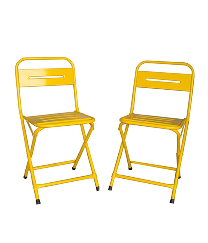 Tremendous Buy 1 Metal Folding Chair Get 1 Free Yellow Gmtry Best Dining Table And Chair Ideas Images Gmtryco