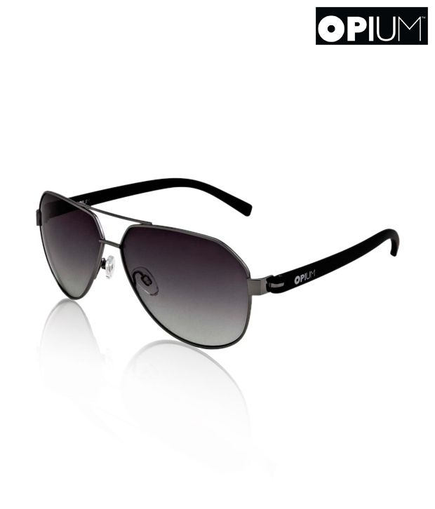 31ddc69bd06 Opium Uber Cool Silver   Black Aviator Sunglasses - Buy Opium Uber Cool  Silver   Black Aviator Sunglasses Online at Low Price - Snapdeal
