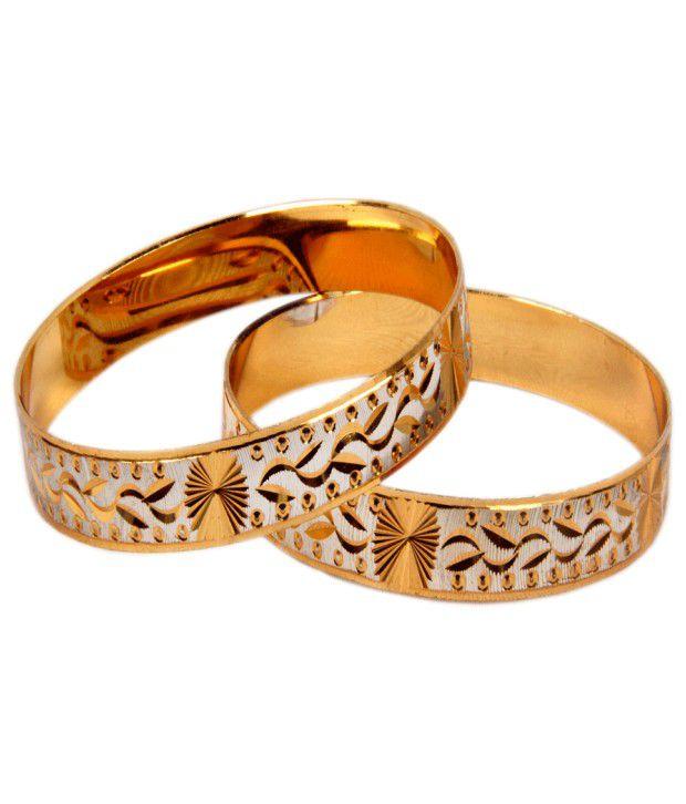Pourni gold plated bangles-mj12m