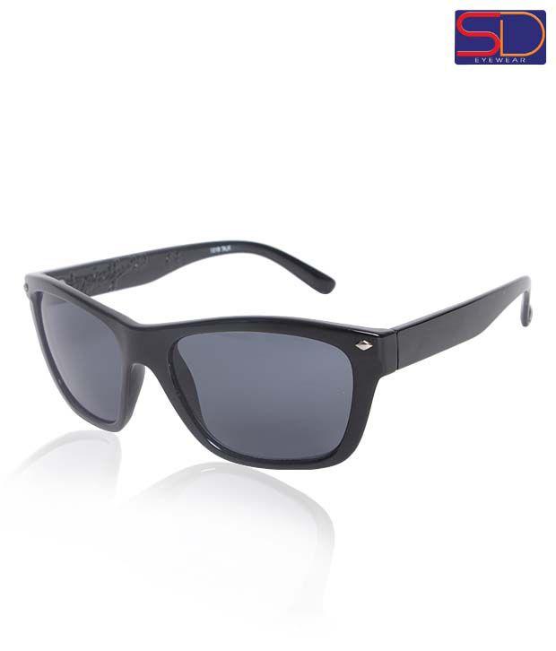 SD Classic Black Wayfarer Sunglasses
