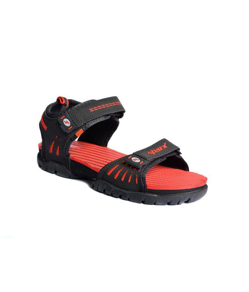 Sparx Red Amp Black Floater Sandals Buy Sparx Red Amp Black