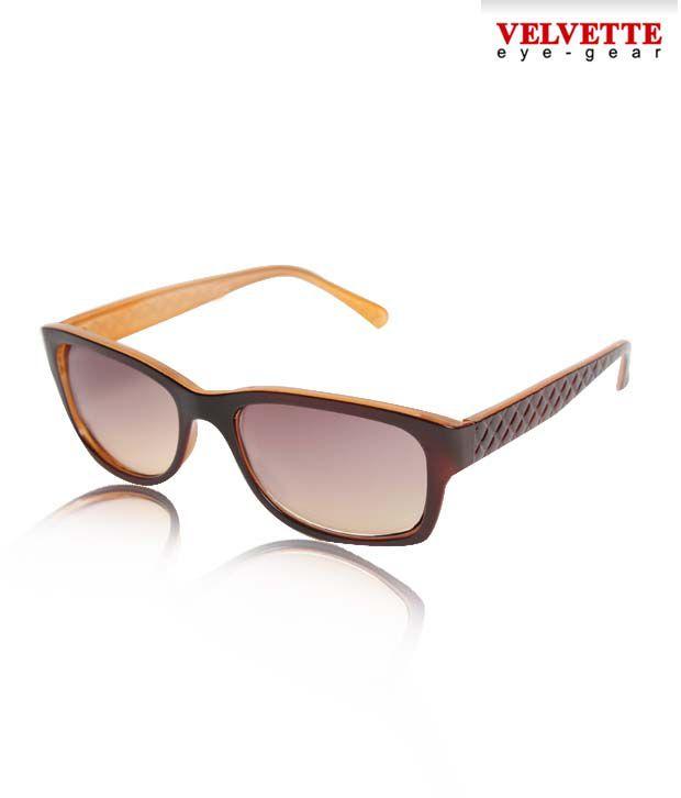 Velvette Caramel & Brown Sunglasses