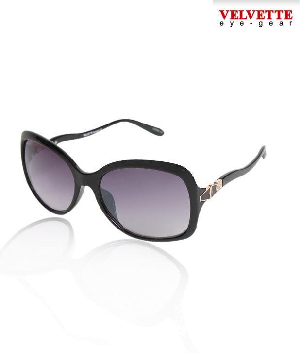 Velvette Wavy  Temple Arm Sunglasses