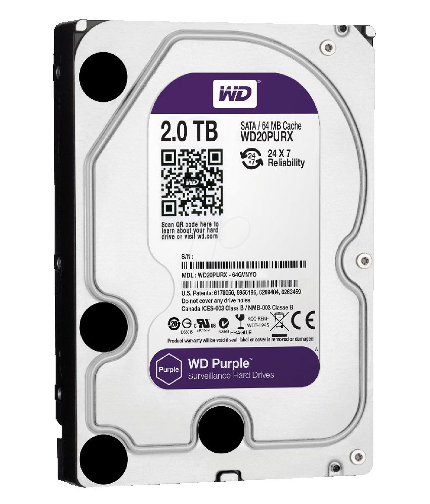 WESTERN DIGITAL Purple 20PURX 2TB SATA 6.0Gb/s 3.5 Inch