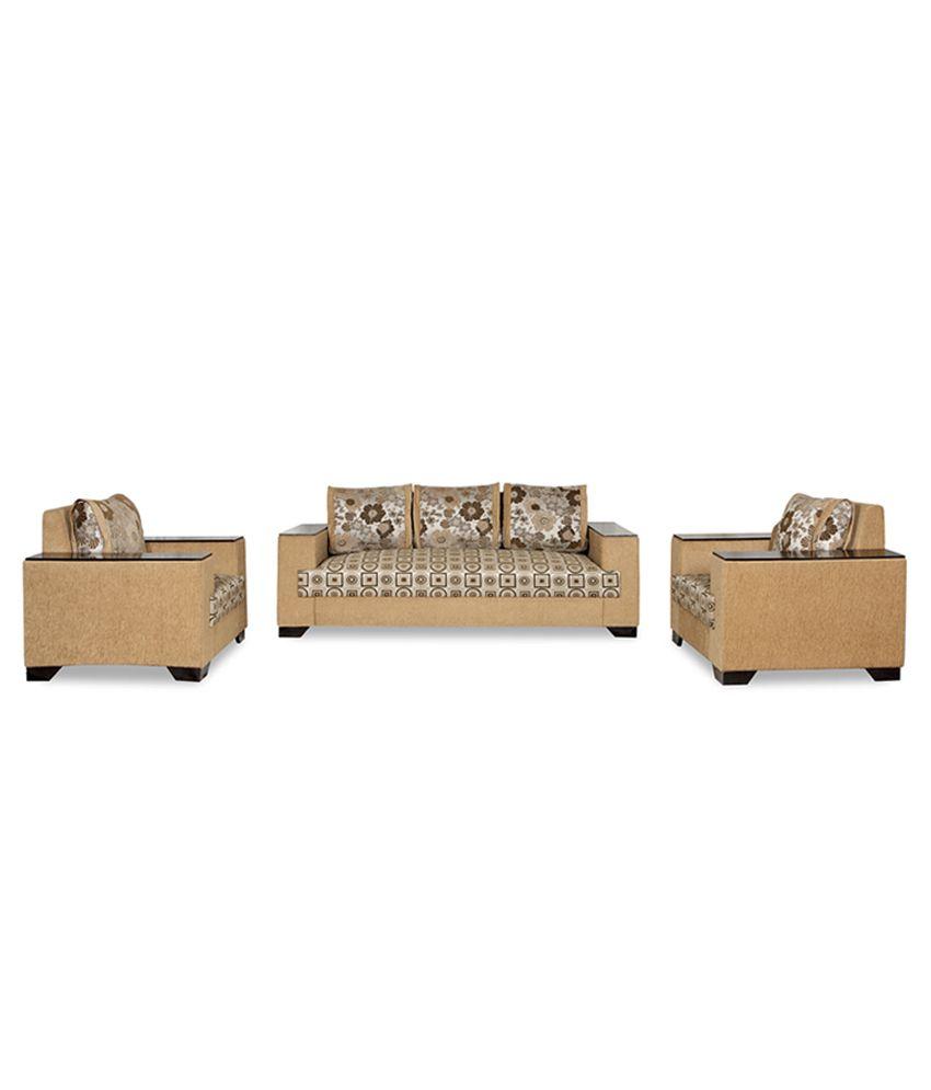 Daimond 3 1 1 Sofa Set With 5 Big Cushions Wooden Handle Buy