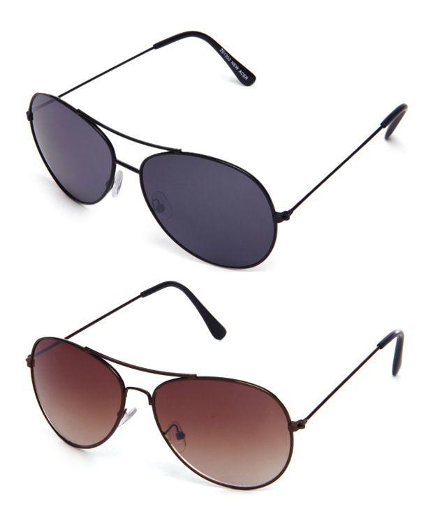 1ded5f544c Davidson Aesthetics Black   Brown Shaded Aviator Sunglasses - Buy 1 Get 1  Free - Buy Davidson Aesthetics Black   Brown Shaded Aviator Sunglasses - Buy  1 Get ...