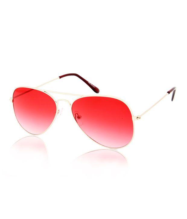 Joe Black Superior Silver-Red Frame Aviator Sunglasses - Buy Joe ...