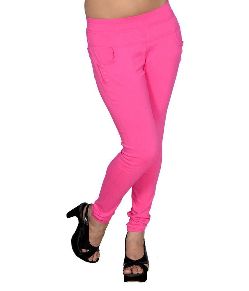 Lgc Pink Lycra Jeggings