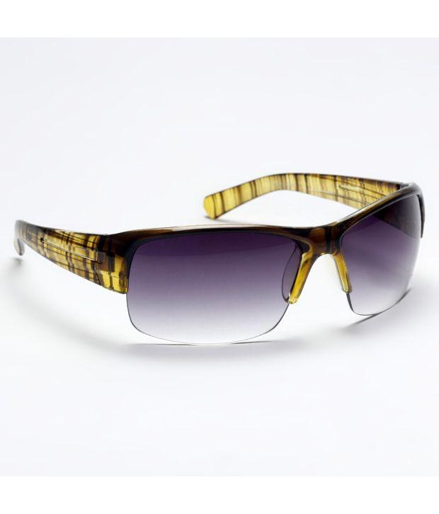 Navyfont Purple Yellow Men - Sporty Sunglasses