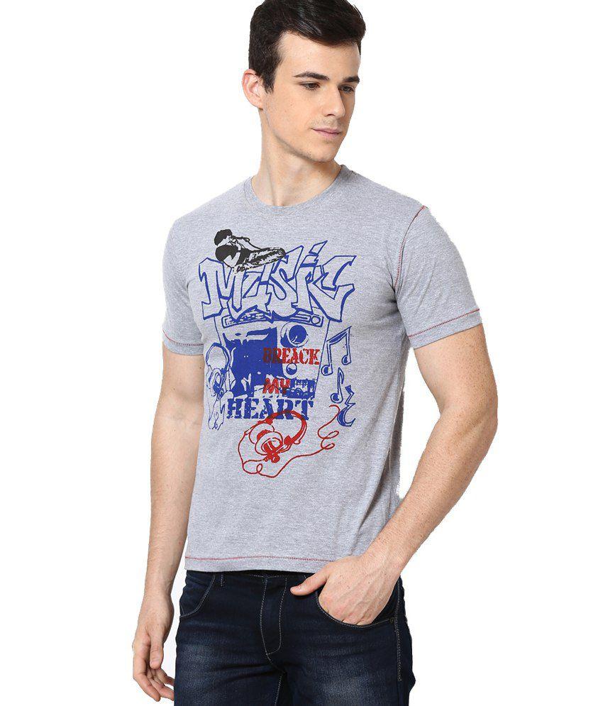 Shanty Gray Half Cotton Round T-Shirt