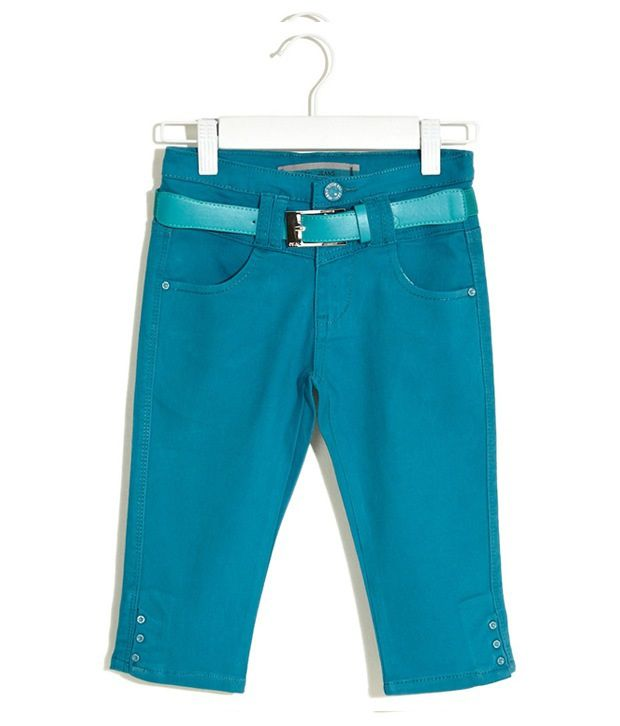 Deal Jeans Kids Blue Capris For Boys