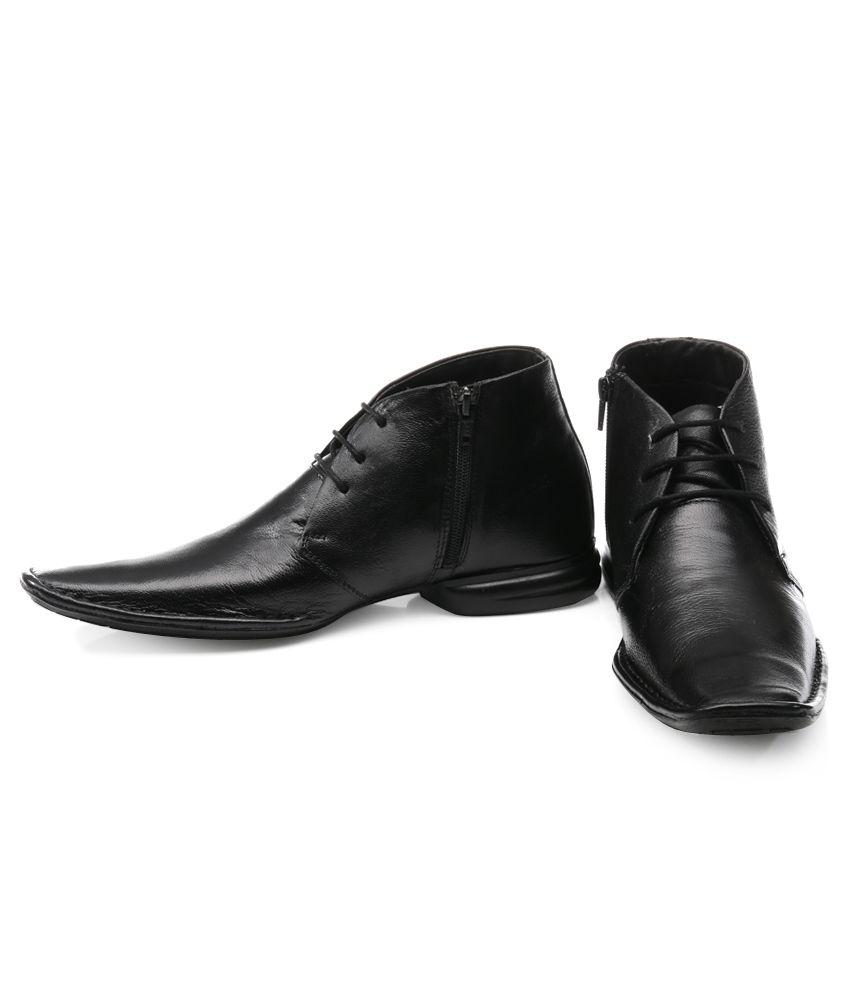 c6bf6734b2bf Franco Leone Black Smart Casuals Shoes Franco Leone Black Smart Casuals  Shoes ...