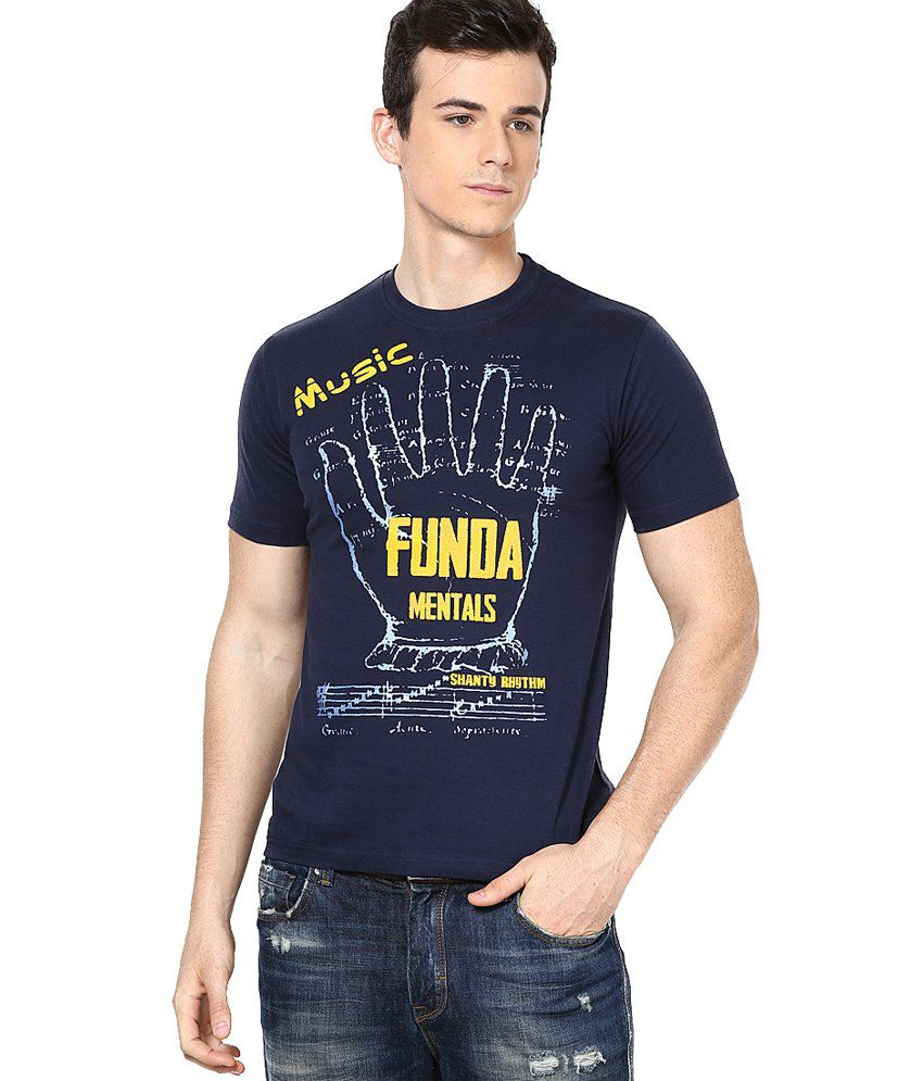 Shanty Navy Half Cotton Round T-Shirt