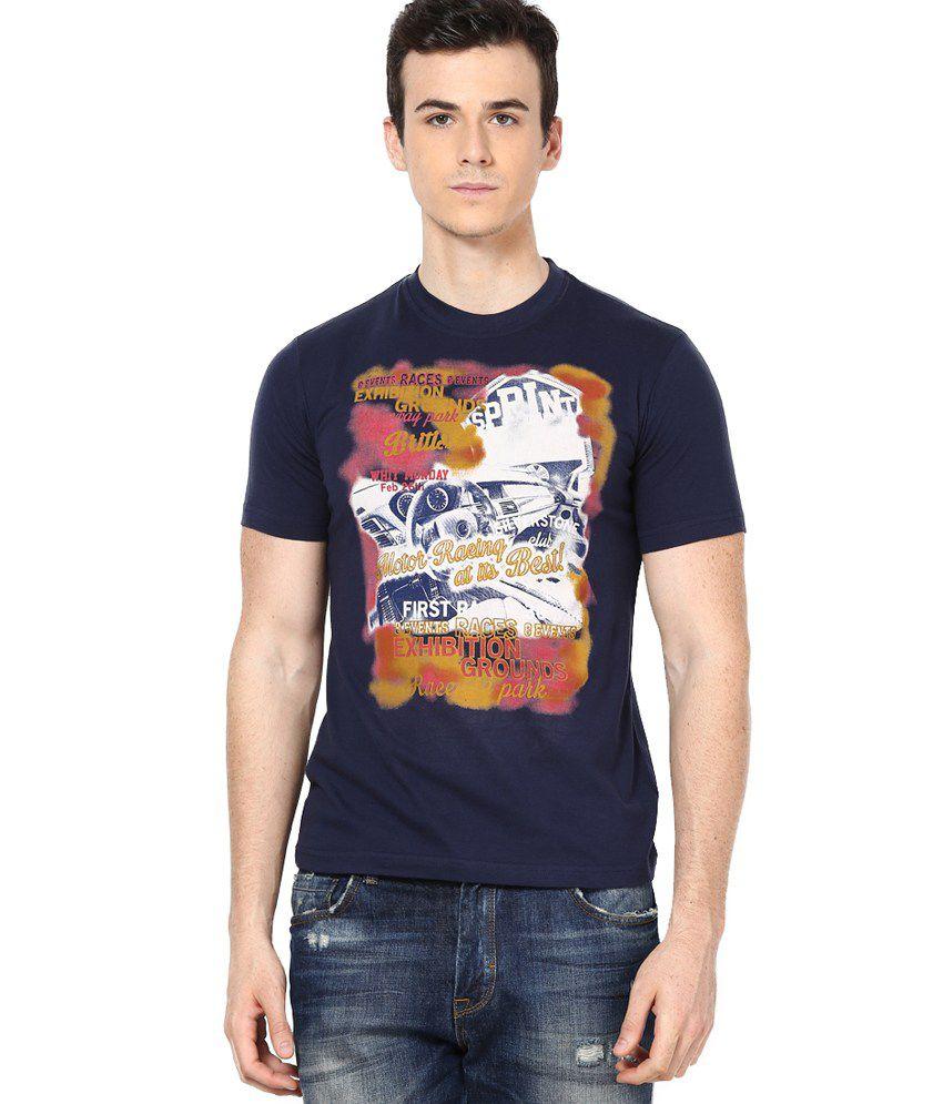 Shanty Navy Half Cotton Round T-Shirt