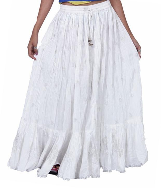 White Long Skirts Online - Dress Ala