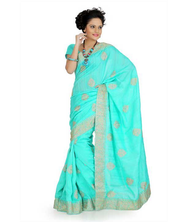 Designer Sarees Blue Art Silk Saree