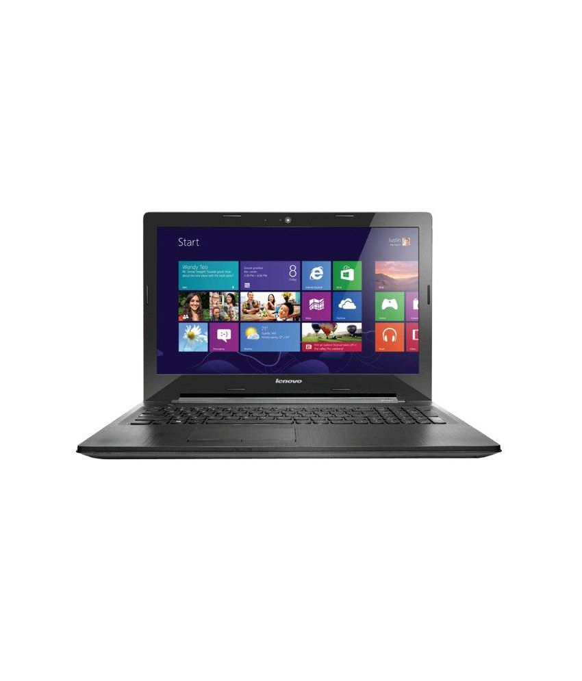 Lenovo G403 Laptop (80G00018IN) (4th Gen Celeron Dual Core- 2GB RAM- 500GB  HDD- 35 56cm (14)- Win 8 1- 1 Year Warranty) (Black)