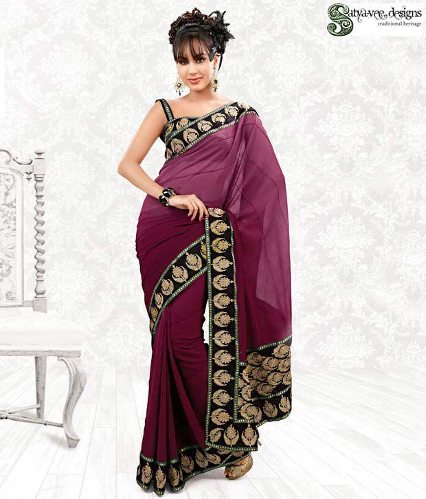 Satyavee Classy Georgette Sari