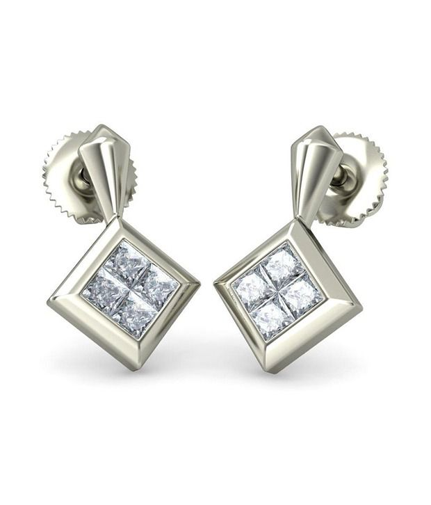 18Kt Hallmarked Gold & Certified  Aliss Earrings by Bluestone