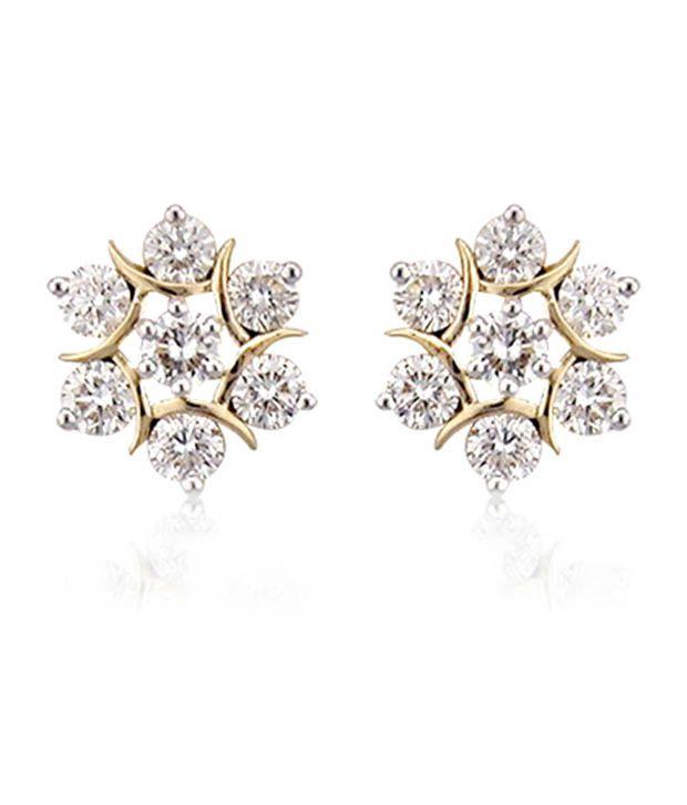 Avsar 18k Gold Diamond Studs