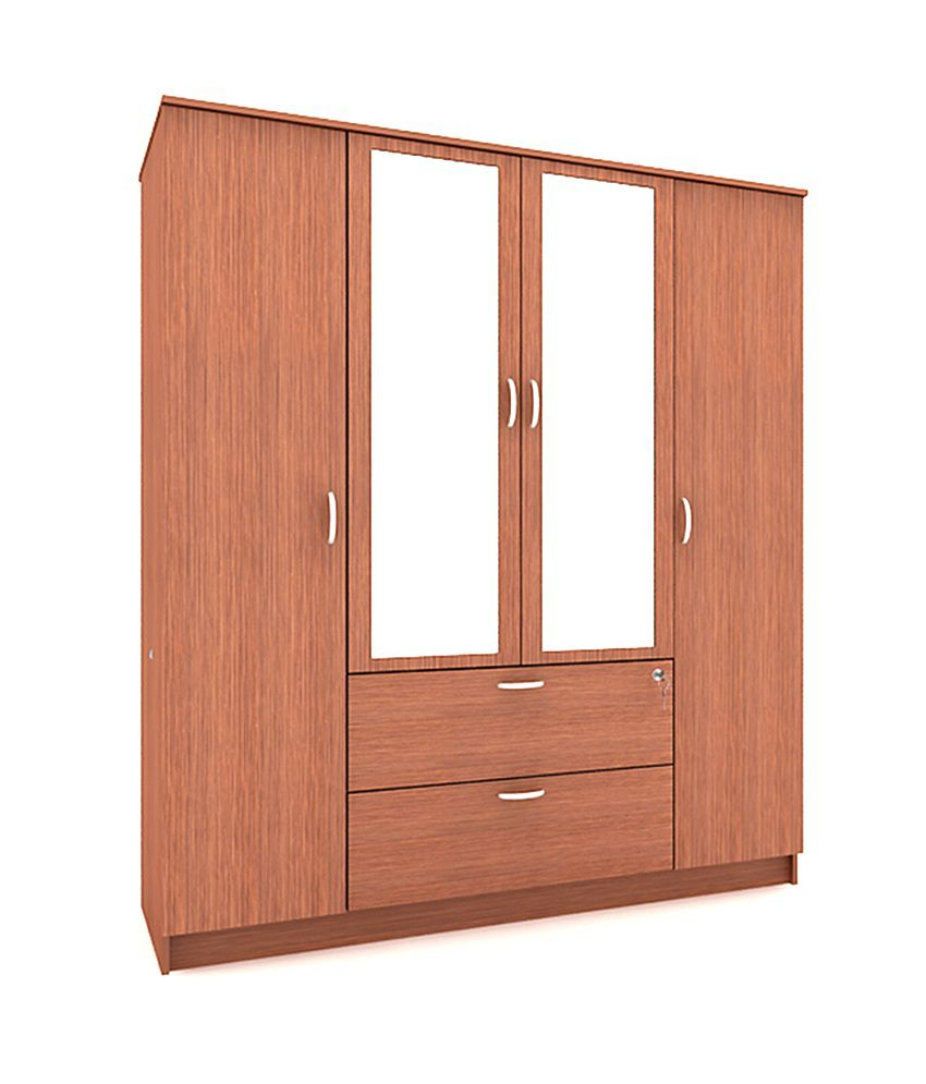 housefull jacob 4 door wardrobe with drawer mirror buy online at rh snapdeal com