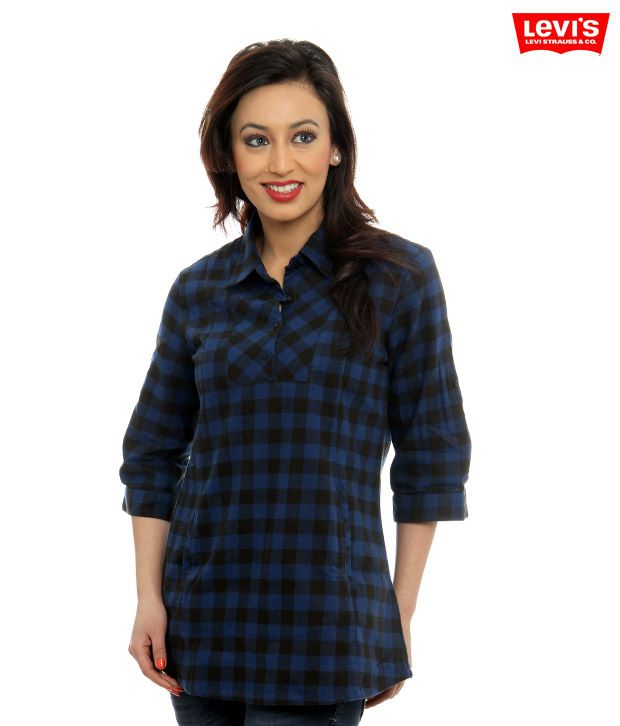 Levi's Blue-Black Checkered Shirt