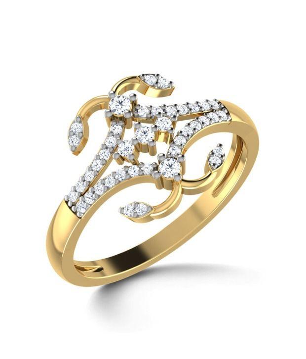 Caratlane Quadra Curl Ring